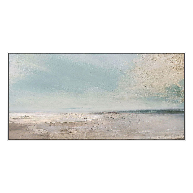 100% Hand-Painted Contemporary Art Oil Painting On Canvas Modern Paintings Home Interior Decor Abstract Beach Art Painting Large Canvas Art(Rolled Canvas without Frame)