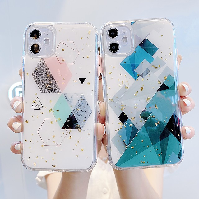 Case For Apple iPhone 11 / iPhone XR / iPhone 11 Pro Shockproof Back Cover Geometric Pattern TPU