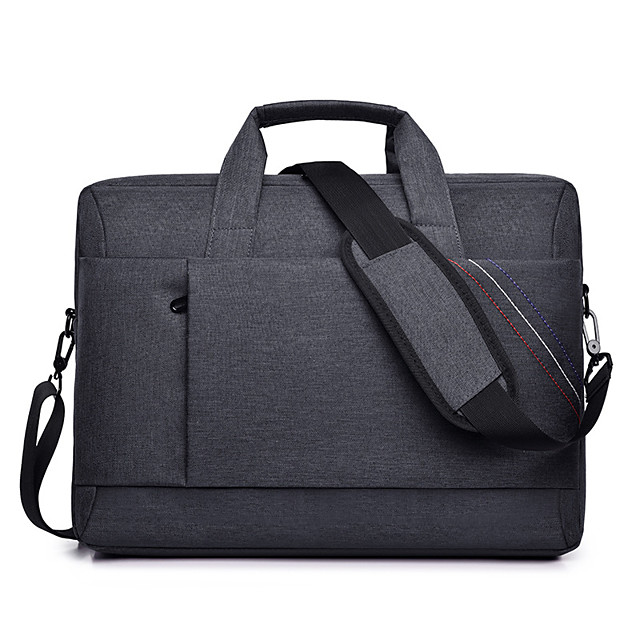 Unisex Waterproof Oxford Cloth Laptop Bag Zipper Solid Color Daily Office & Career Black Red