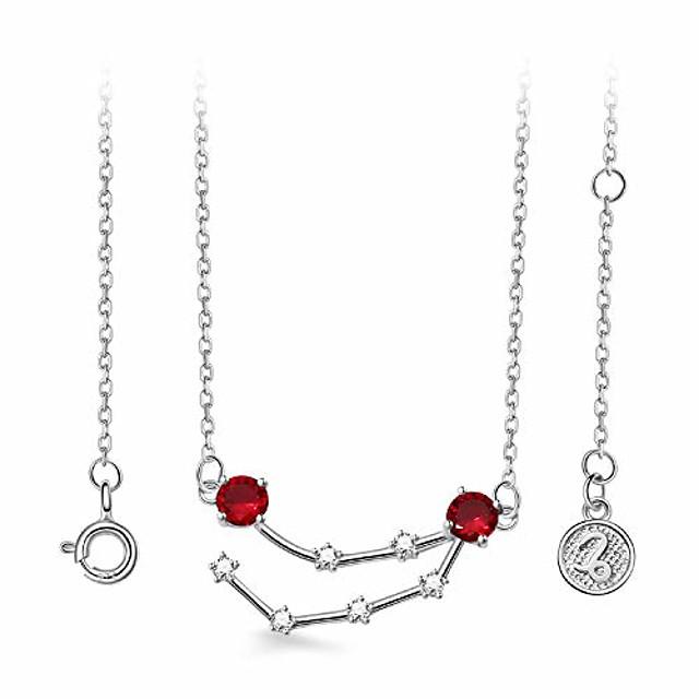 925 sterling silver horoscope pendant necklace | zodiac sign 12 constellation birthstone birthday gift for women girls