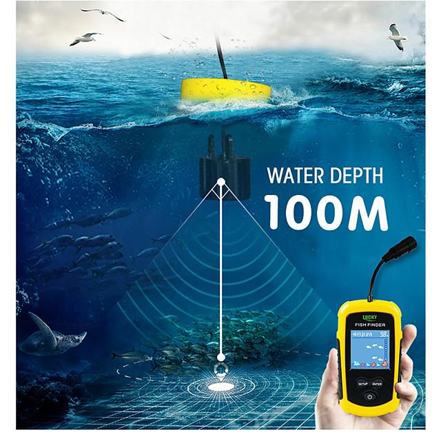 Russian warehouse! FFC1108-1 Alarm 100M Portable Sonar Fish Finders Fishing lure Echo Sounder Fishing Finder Lake Sea Fishing