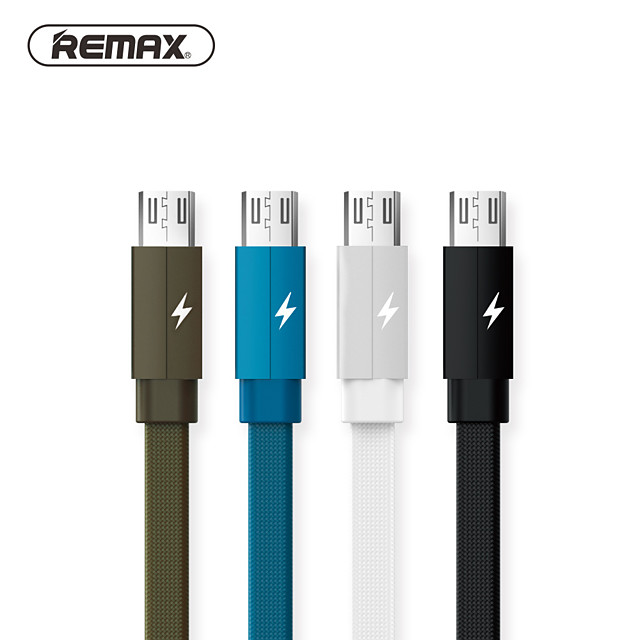 Remax Micro USB Cable 2 A 1.0m(3Ft) Flat / Braided Terylene USB Cable Adapter For Samsung / Huawei / Xiaomi