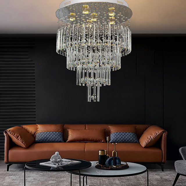 60cm Crystal Chandelier Ceiling Light DIY Modernity Luxury Globe K9 Crystal Pendant Lighting Hotel Bedroom Dining Room Store Restaurant LED Pendant Lamp Indoor Crystal Chandeliers Lighting