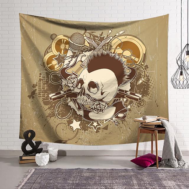 Wall Tapestry Art Decor Blanket Curtain Hanging Home Bedroom Living Room Decoration Polyester Fiber Novelty Still Life Skull Skull Kill Matt Music Guitar Pistol Rose