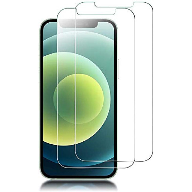 [2 pack] designed for iphone 12 pro max 5g screen protector tempered glass (6.7
