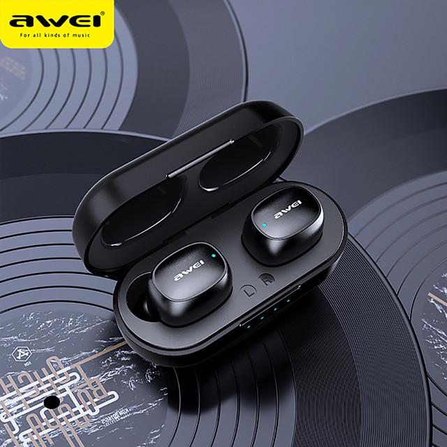 AWEI T13 Hifi Sports Earphone Bluetooth 5.0 Wireless Fast Pairing Touch Sensing Stereo Earphone Siri Music Earphone
