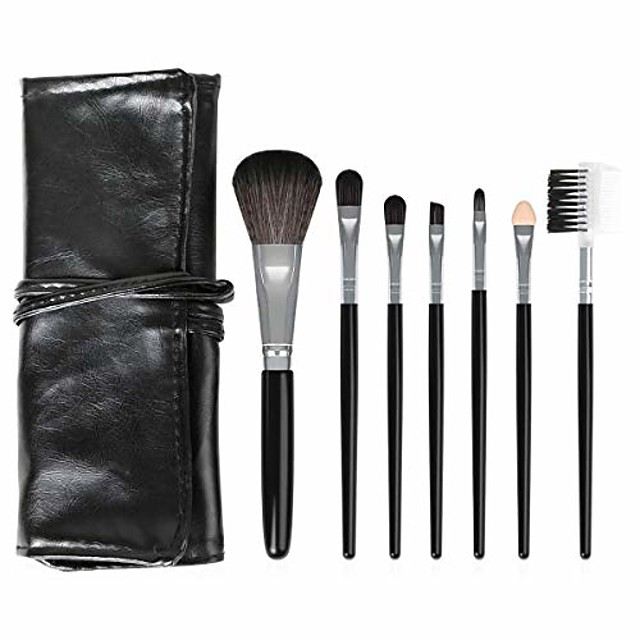 makeup brush set 7 foundation blending blush eye face powder brush brushes set eye makeup brush beauty makeup tools (pink)