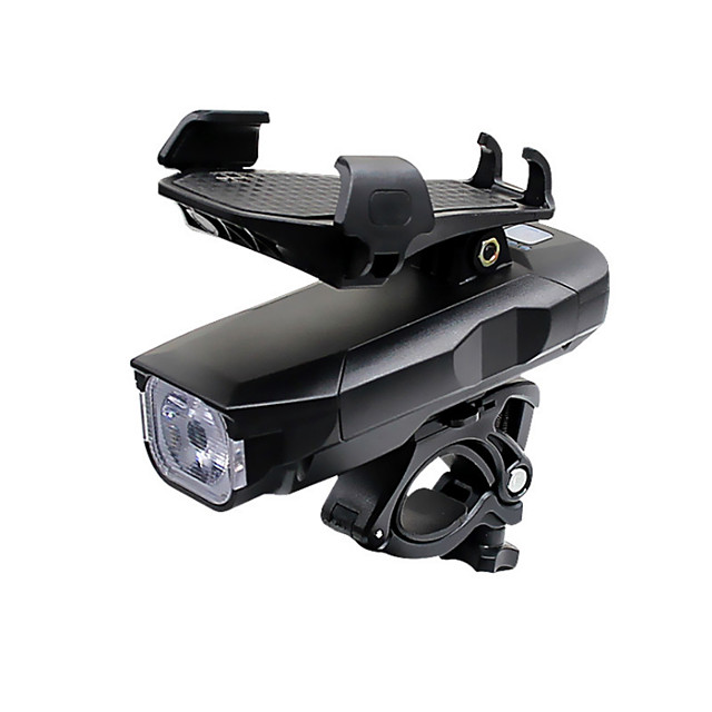 LED Bike Light Clips and Mounts Front Bike Light Bike Horn Light LED Bicycle Cycling Waterproof Super Bright Professional Adjustable Rechargeable Li-ion Battery 2500 lm Rechargeable Battery Natural