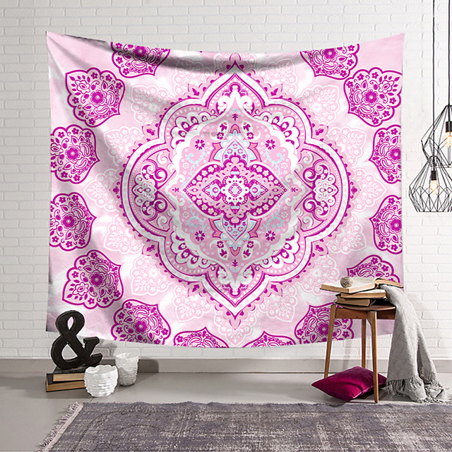 Mandala Bohemian Wall Tapestry Art Decor Blanket Curtain Hanging Home Bedroom Living Room Decoration Boho Hippie Indian Psychedelic Floral Flower Lotus