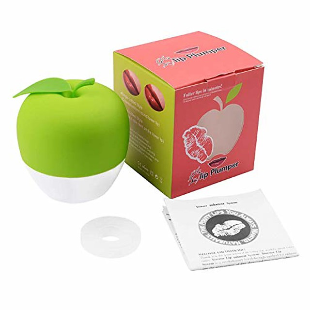 lip plumper device beauty pump quick lip plumper enhancer treatment(gel mouth cover included) sexy bigger mouth lip plumping device (red)