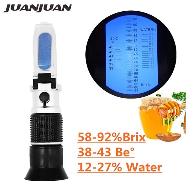 Handheld Refractometer honey Brix 58-92%(sugar content)Beekeeping Refraction honey concentration meter with ATC