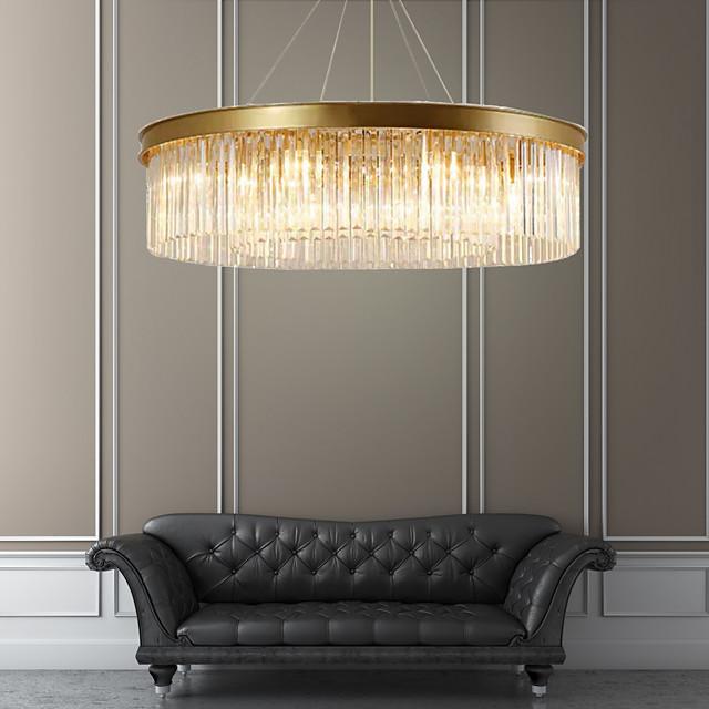 6-Light 55 cm Crystal Chandelier Metal Crystal Painted Finishes Chic & Modern 110-120V 220-240V