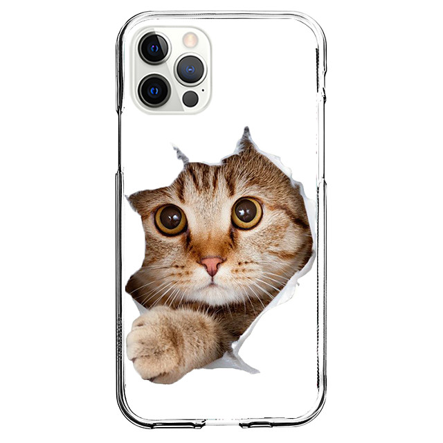 Lovely Cat Case For Apple iPhone 12 iPhone 11 iPhone 12 Pro Max Unique Design Protective Case and Screen Protector Shockproof Back Cover TPU