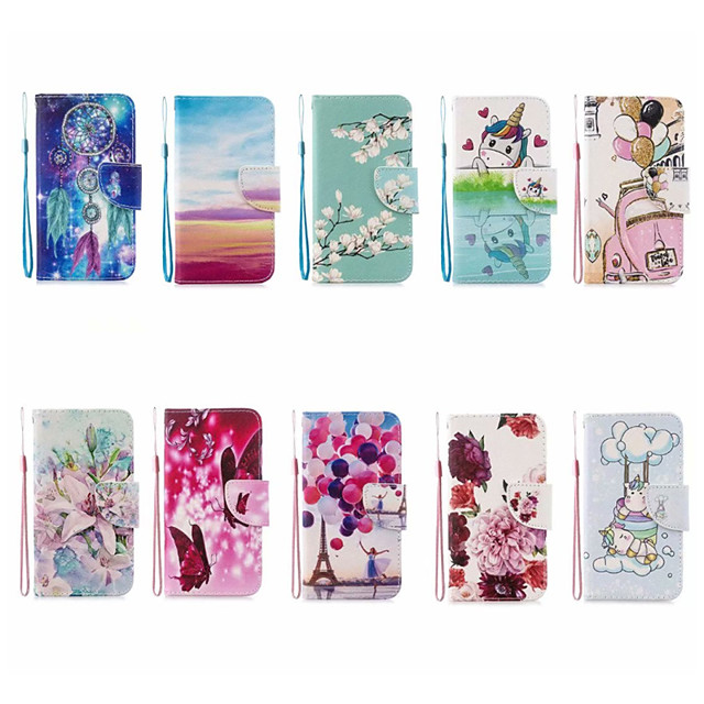 Case For Apple iPhone 12 / iPhone 11 / iPhone 12 Pro Max Wallet / Card Holder Full Body Cases Cartoon PU Leather