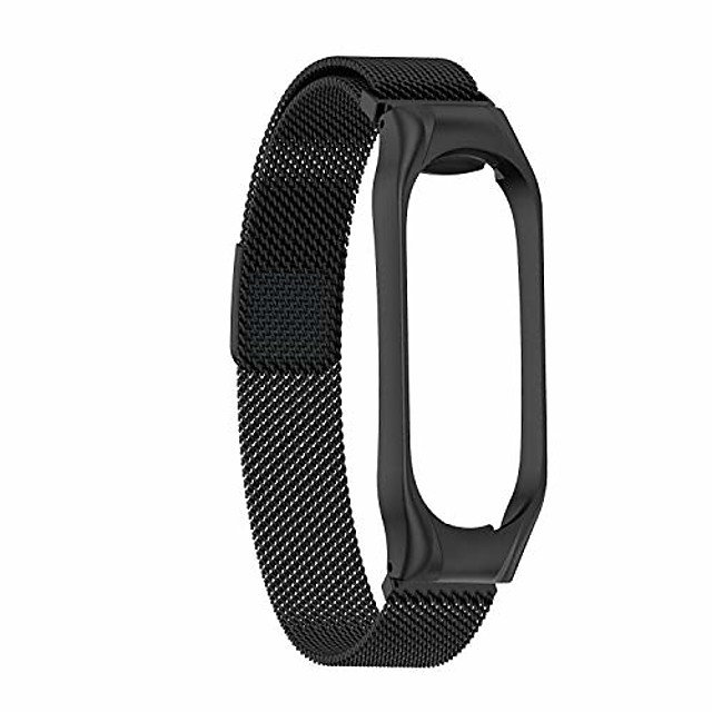 watchband replacement for xiaomi mi band 4,stainless steel bracelet replacement watch band strap for xiaomi band 3 4