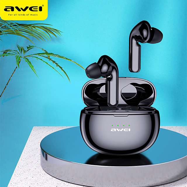 Awei T15 New Product Mini Tws Bluetooth Headset 5.0 Wireless Waterproof Touch Earbuds In-ear Headphones