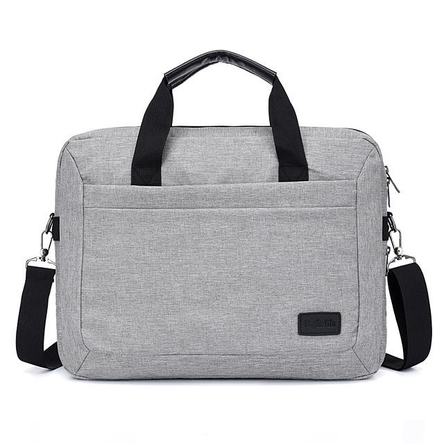 Unisex Waterproof Polyester Laptop Bag Zipper Solid Color Daily Office & Career Handbags Black Dark Blue Gray