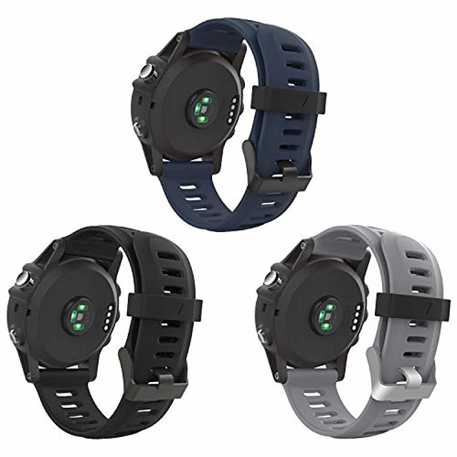 compatible with fenix 3 watch strap, soft silicone breathable replacement beautiful wristband sport & edition for fenix 3 / fenix 3 hr/fenix 5x smart watch