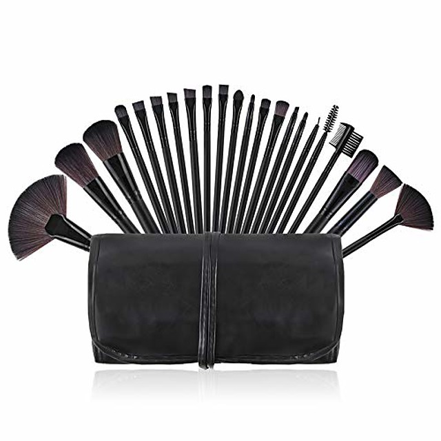makeup brushes set 22 piece black foundation blending power blush eyeshadow eye face brush cosmetics makeup brushes kit synthetic