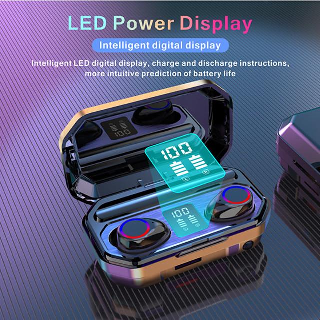 M12 Digital Display Bluetooth Headset 5.0 Binaural Twsled Battery Indicator Light And Portable