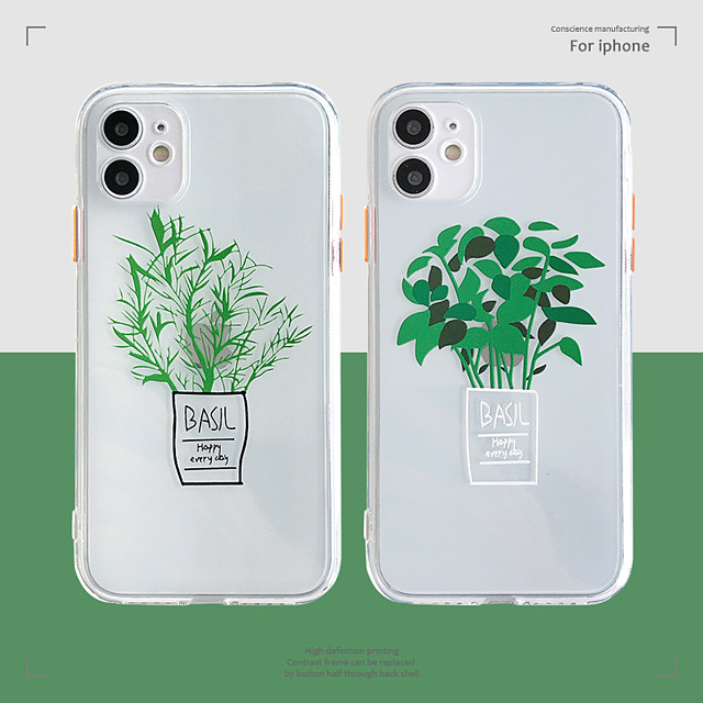 Case For Apple iPhone 12 / iPhone 11 / iPhone 12 Pro Max Shockproof Back Cover Cartoon / Tree TPU