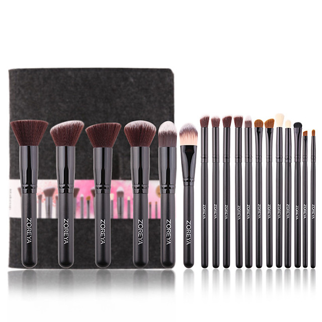 18pcs Essential Makeup Brush Tools Soft Synthetic Fiber Cosmetic Sets Blending Lip Contour Brushes For Make Up