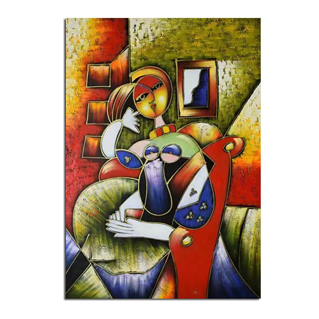 100% Hand-Painted Contemporary Art Oil Painting On Canvas Modern Paintings Home Interior Decor Abstract Picasso Art Painting Large Canvas Art(Rolled Canvas without Frame)