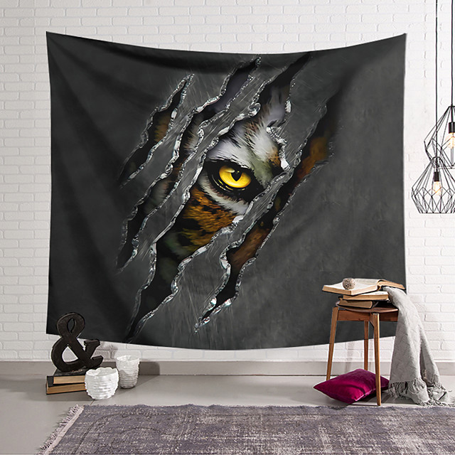 Wall Tapestry Art Decor Blanket Curtain Hanging Home Bedroom Living Room Decoration Polyester Ferocious Animal