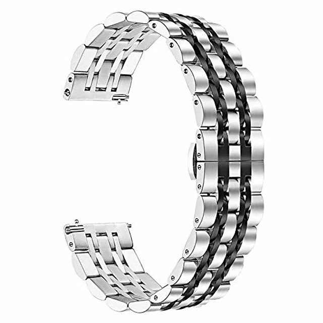 compatible for samsung galaxy watch (46mm) bands for gear s3 frontier, 22mm stainless steel metal strap replacement wristband for huawei gt smart watch band
