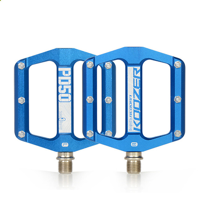 mountain bike flat pedals, low-profile aluminium alloy bicycle pedals, 9/16