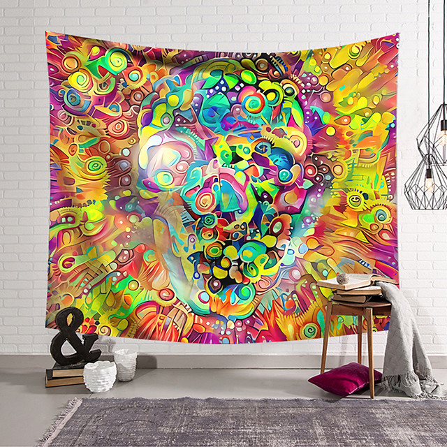 Wall Tapestry Art Deco Blanket Curtain Hanging Home Bedroom Living Room Dormitory Decoration Polyester Fiber Painted Fantasy