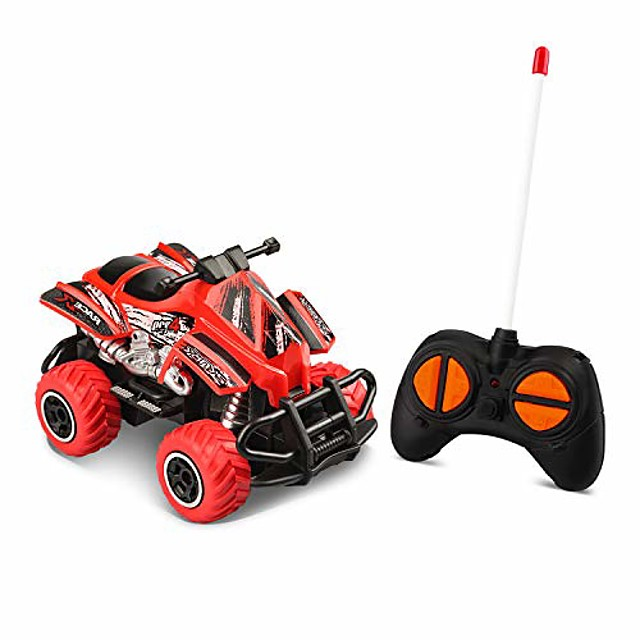 mini rc truck for boys toys age 3-4 children motorcycle toys, indoor games for 5-6 year old toddlers preschool toys popular kids mini cars gifts, red