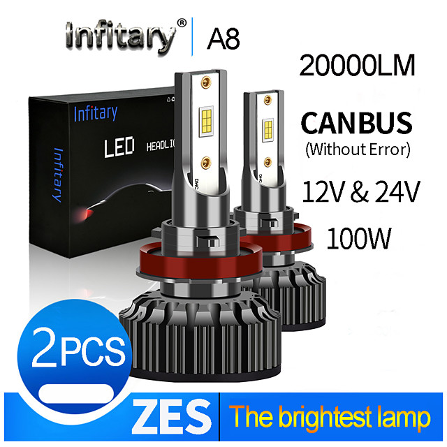 infitary 20000lm super heldere canbus foutloos voor 12 v 24 v h4 led h13 9004 9007 led auto koplamp vrachtwagen lamp mistlampen lamp