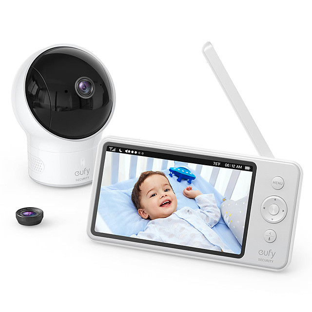 Video Baby Monitor eufy Security Video Baby Monitor with Camera and Audio 720p HD Resolution110 Wide-Angle Lens Included