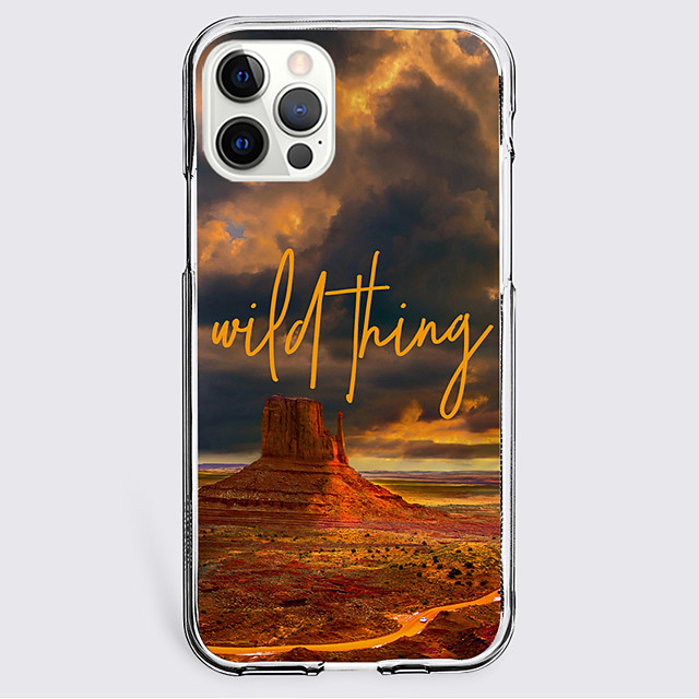 Scenery Letter Case For Apple iPhone 12 iPhone 11 iPhone 12 Pro Max Unique Design Protective Case Shockproof Back Cover TPU