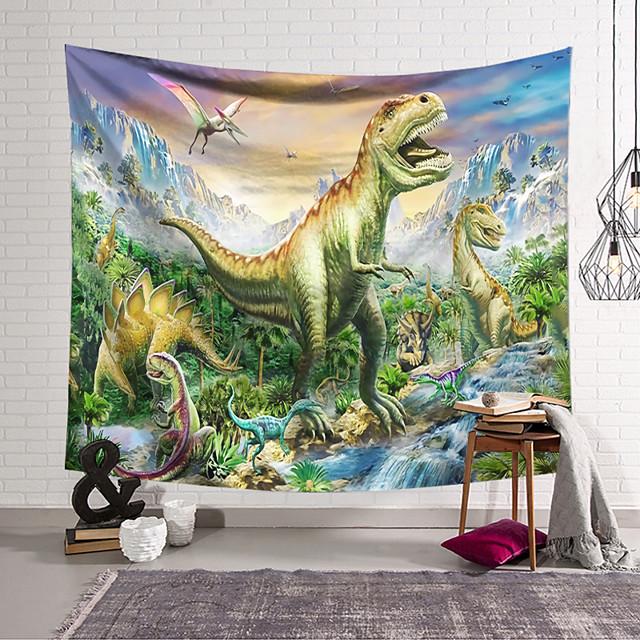 Wall Tapestry Art Decor Blanket Curtain Hanging Home Bedroom Living Room Decoration Polyester Dinosaur World