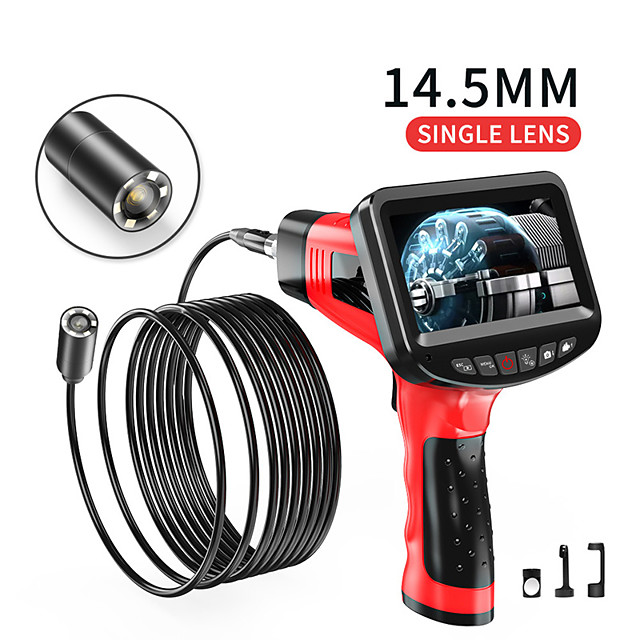 14.5 mm high definition camera with 4.3 inch screen auto repair auto repair engine industrial piping autofocus sewer electronic air conditioning 1m hard wire with 32G TF card