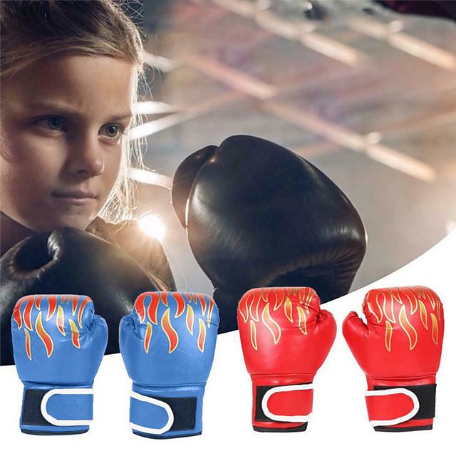 Luvas para Saco de Box Luvas para Treino de Box Luvas de Box Para Boxe Mixed Martial Arts (MMA) Dedo Total Protecção Pele Crianças Homens - Preto Vermelho Azul