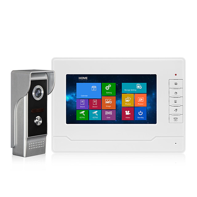 7inch Door Phone Video Intercom for Home Touch Screen OSD Language Recording Function Waterproof Camera IR night Vision Video Doorbell System