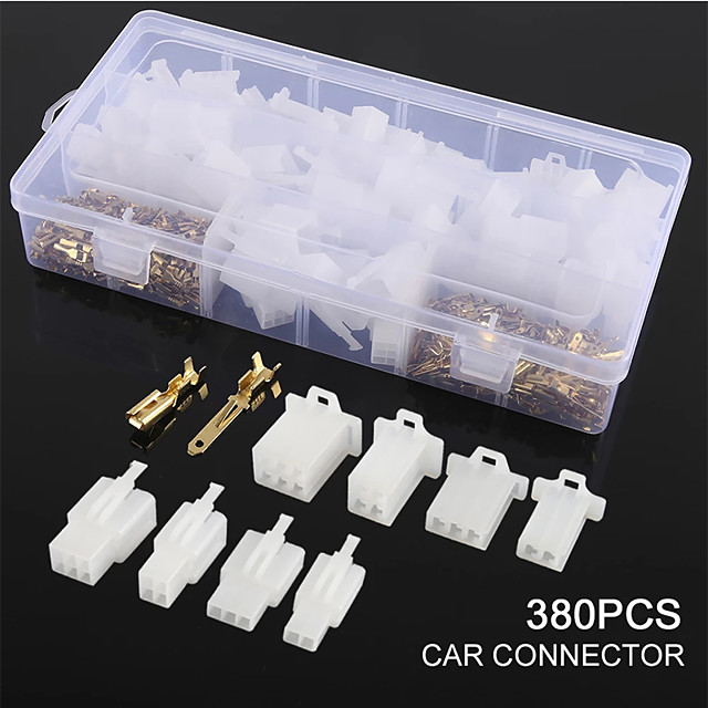 380pcs Auto Wire Terminal Connector 2.8 Mm Connector Male Female Terminals Housing 2 3 4 6 For Boat Car Motorcycles Car Boat
