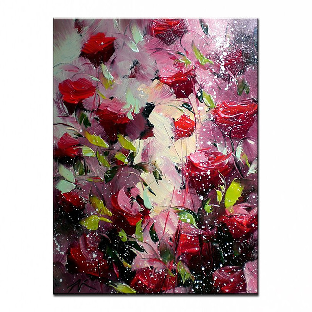 100% Hand-Painted Contemporary Art Oil Painting On Canvas Modern Paintings Home Interior Decor Abstract Flower Art Painting Large Canvas Art(Rolled Canvas without Frame)