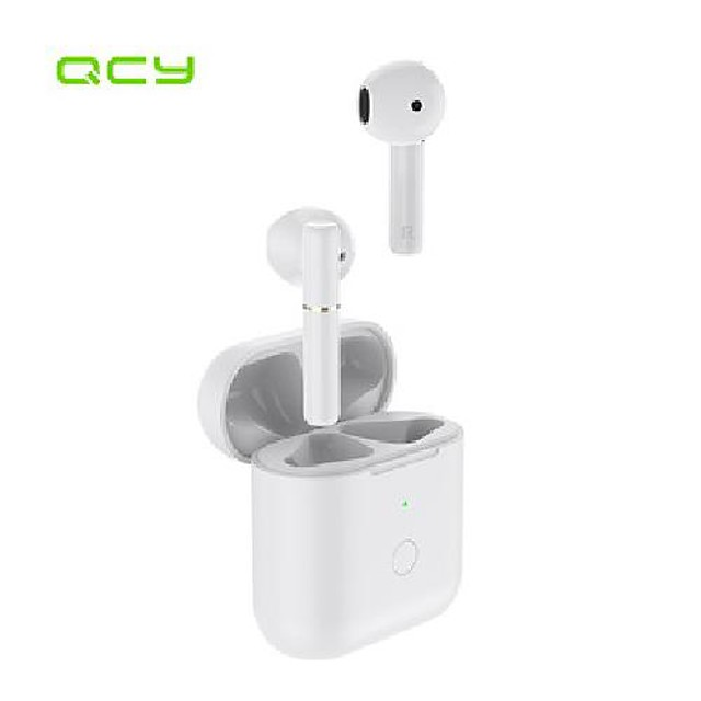 bluetooth-earphones semi-in-ear-gaming-headphones qcy t8s type-c wireless with interface