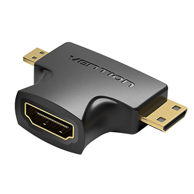 Vention Mini HDMI Adapter Micro HDMI Adapter 1080P Micro HDMI Male to HDMI Female Converter Type D to A HDMI Adapter for PS4 Camera HDTV Mini HDMI