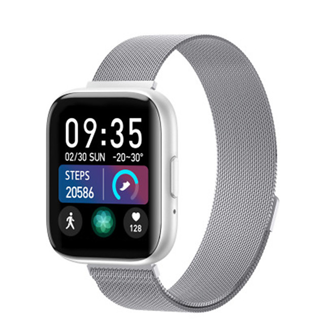 T99 Stainless Smartwatch for Apple/Android Phones, Bluetooth Sports Tracker Support Bluetooth Call/Heart Rate Measure