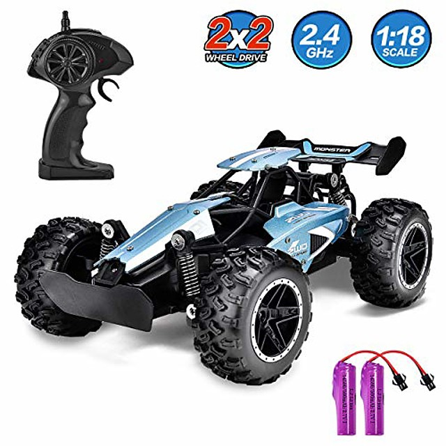 rc cars for kids remote control car high speed racing car fast rc truck rechargeable radio controlled toys for boys girls kids age 5 16 year old birthday xmas gifts blue