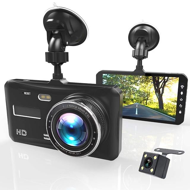 Dash Cam Dual Lens Full HD 1080P 4 IPS Car DVR Vehicle Camera FrontRear Night Vision Video Recorder G-sensor Parking Mode WDR