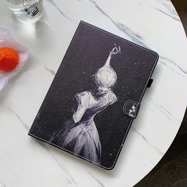 Case For Samsung Tablet Samsung Tab A 10.1(2019)T510 / Samsung Tab A 10.1(2019)T515 / Tab S6 Lite (SM-P610/615) Shockproof Full Body Cases Sexy Lady PU Leather / TPU