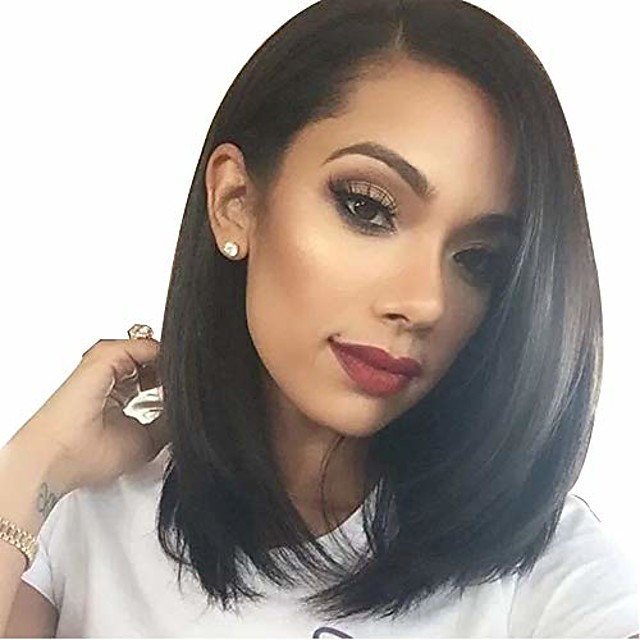 synthetic straight wigs brazilian black women bob wigs premium synthetic hair replacement middle parting wig natural hairline color,brown