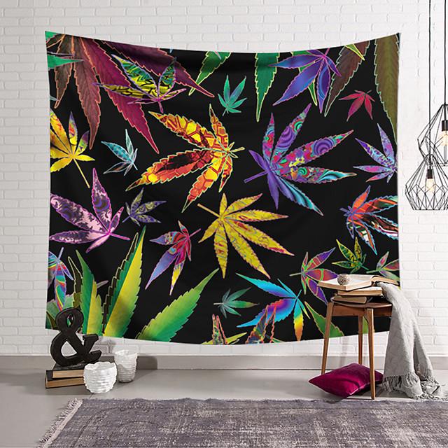 Wall Tapestry Art Decor Blanket Curtain Hanging Home Bedroom Living Room Decoration Modern Fantasy Color Maple Leaf Rendering Lanting Design