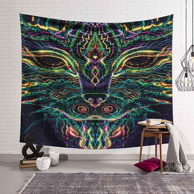 Wall Tapestry Art Decor Blanket Curtain Hanging Home Bedroom Living Room Decoration Polyester Monster